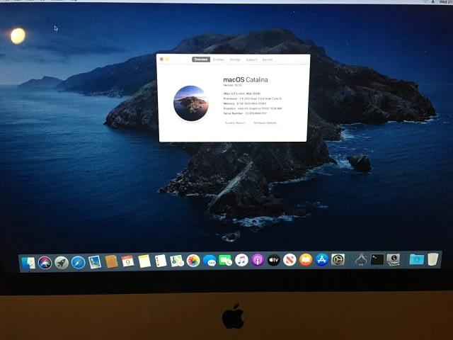 iMac a1418 repair macOS Catalina install & setup